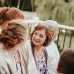 Generation of family attending wedding.